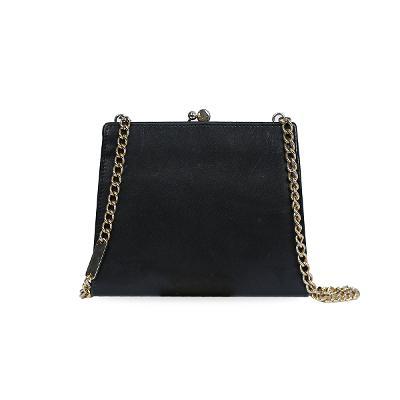 vala ribbon chain bag black